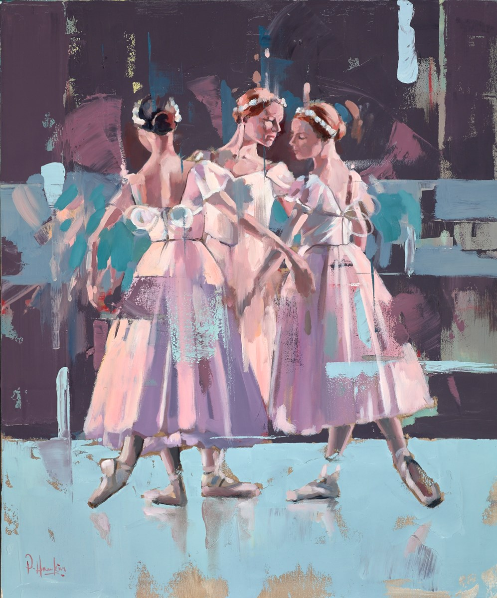 Ballet Trio by pete hawkins -  sized 20x24 inches. Available from Whitewall Galleries